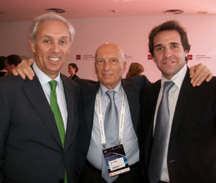 Pecce with Miguel Carmelo, CEO of Universidad Europea de Madrid<br>and President of Laureate International Universities for the Mediterranean Region<br>and with Enrique Azuaga, CEO of HSM &bull; ExpoManagement Madrid, 2011.