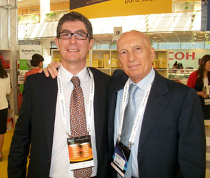 Pecce with Fernando Trias de Bes, Spanish bestseller writer • ExpoManagement Madrid, 2011.