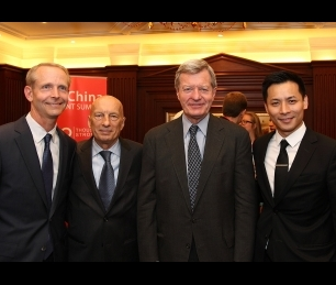 <p>Pecce with (from left to right) Jim Hall, President and CEO of WorldStrides, Max Sieben Baucus, Ambassador of the United States of America to China&nbsp;and&nbsp;Richard Lin, President of WorldStrides China China <span>&bull; </span>US-China Student Summit, 2014.</p>