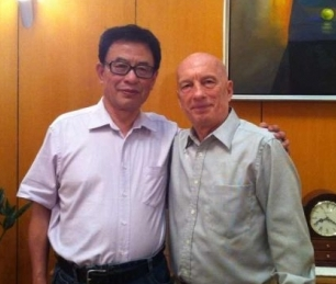 Pecce with Mr. Chen Yu. Vice-President for China Association for Employment Promotion; Chairman of Institute of Occupation Research, Peking University; Former Director of Occupation Skill Testing Authority of China, under the Ministry of Human Resources and Social Security (the former Ministry of Labour).