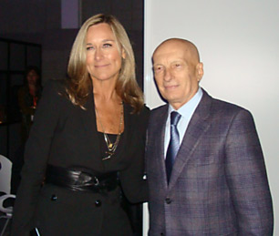 Pecce with Angela Ahrendts, Chief Executive Officer of Burberry • World Business Forum New York, 2011.