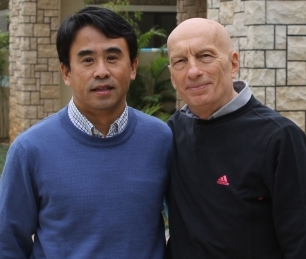 Pecce with Wang Chengmao, his friend and business partner in China • Hainan, 2011.