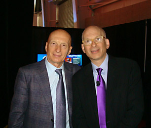 Pecce with Seth Godin, one of business most innovative thinkers • World Business Forum, New York 2011.